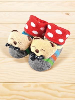 貝寶手縫公仔寶寶襪(寬口)-微笑熊