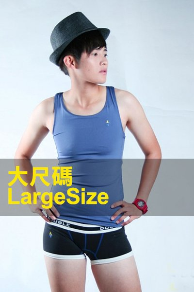 【DOUBLE束胸】加強黏貼式全身第III代-藍色-大尺碼