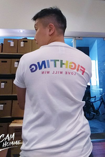 LGBT彩虹印花短袖T恤