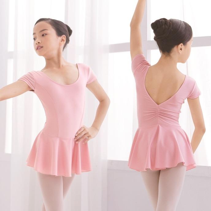 童 亮面包袖本布裙【81091224】粉色