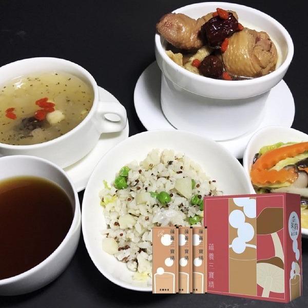 3+3系列 銀髮樂活餐+素滴雞精(三寶精)