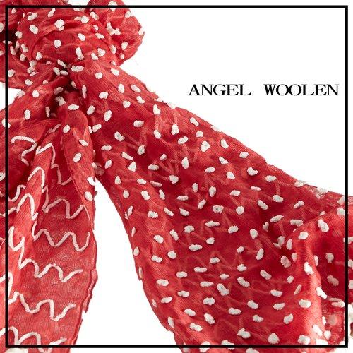 【Angel Woolen】點綴夢想 印度手工羊毛絲光披肩 圍巾(共兩色)   僅剩紅2綠1