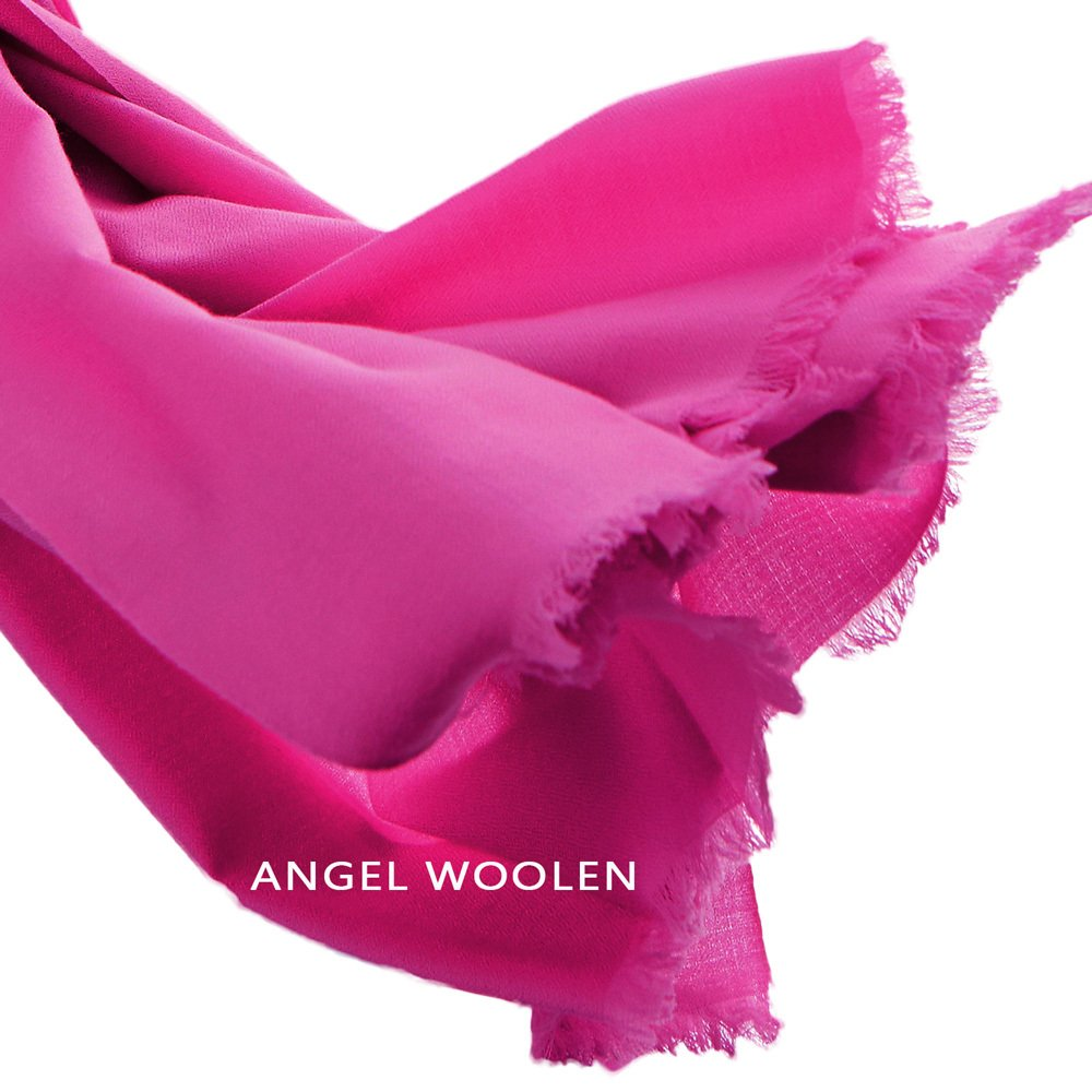 【Angel Woolen】極致保暖絲光胎羊毛披肩 圍巾(共五色) 寶藍/駝黃僅剩2條