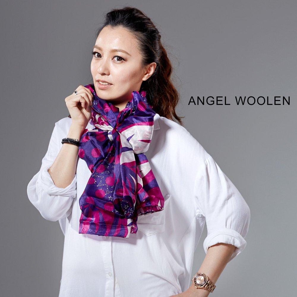 【Angel Woolen】銀絲柔光蠶絲披肩 圍巾(桃紅)