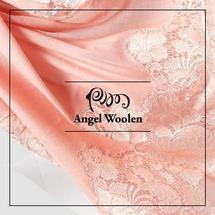 【Angel Woolen】慕語時光 印度Pashmina手工羊絨蕾絲披肩僅剩件數4件