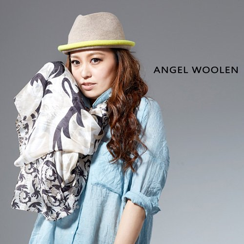 【Angel Woolen】銀絲柔光蠶絲披肩 圍巾(黑白)
