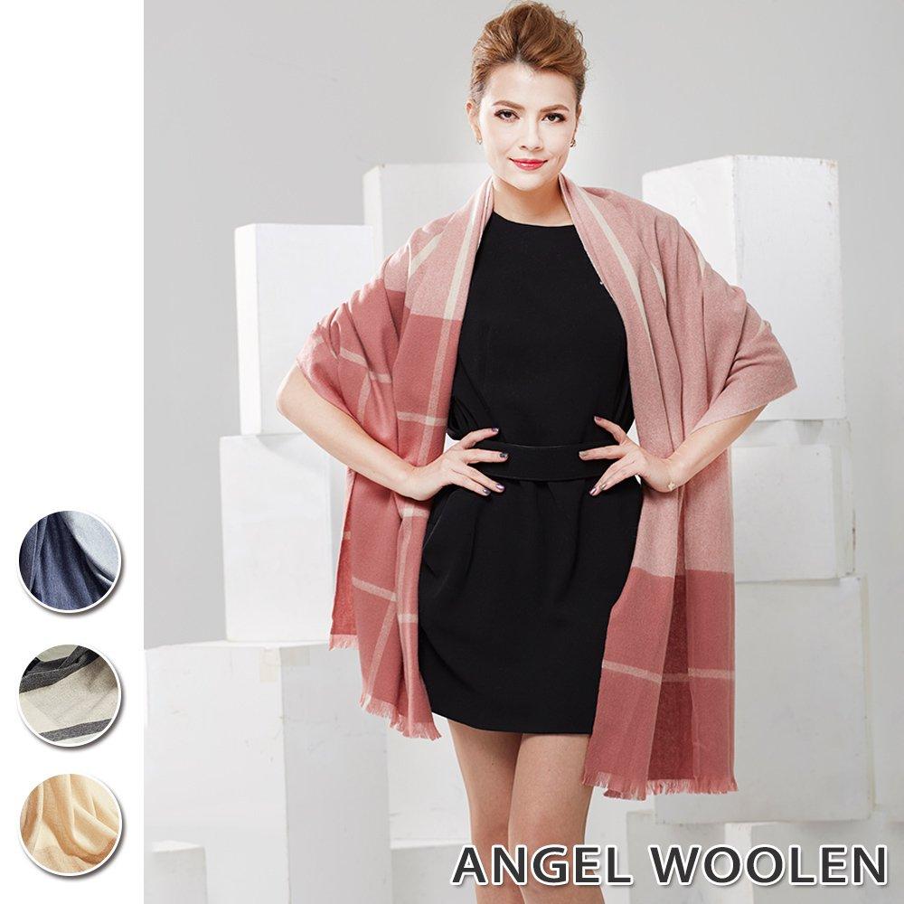 【Angel Woolen】極簡美學100%Cashmere羊絨披肩圍巾(共4款)
