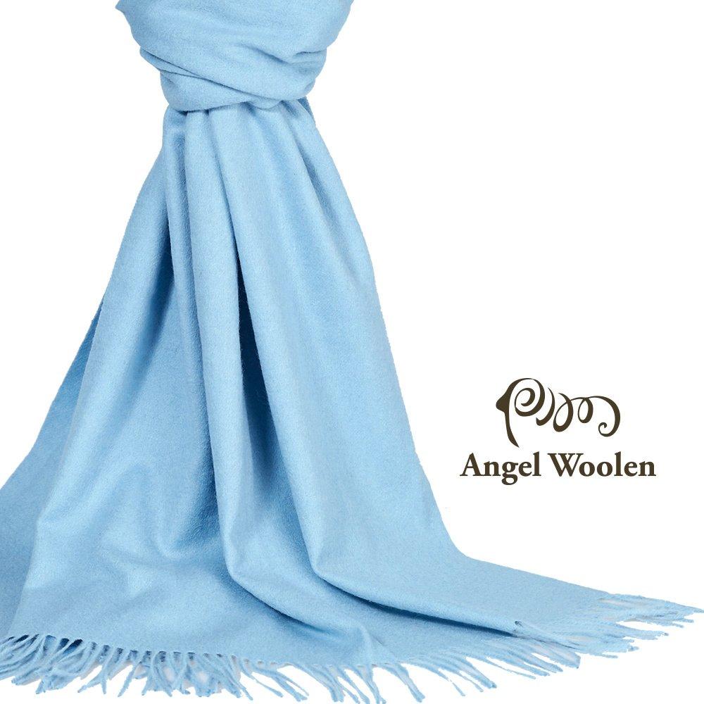 【Angel Woolen】100%Wool 經典厚織 暖感羔羊毛披肩圍巾(共6色)