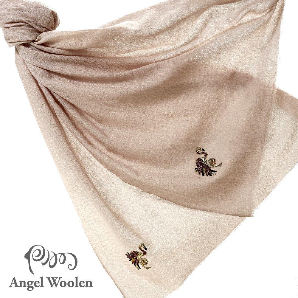 【Angel Woolen】印度Pashmina羊絨刺繡披肩圍巾(舞動奇蹟)