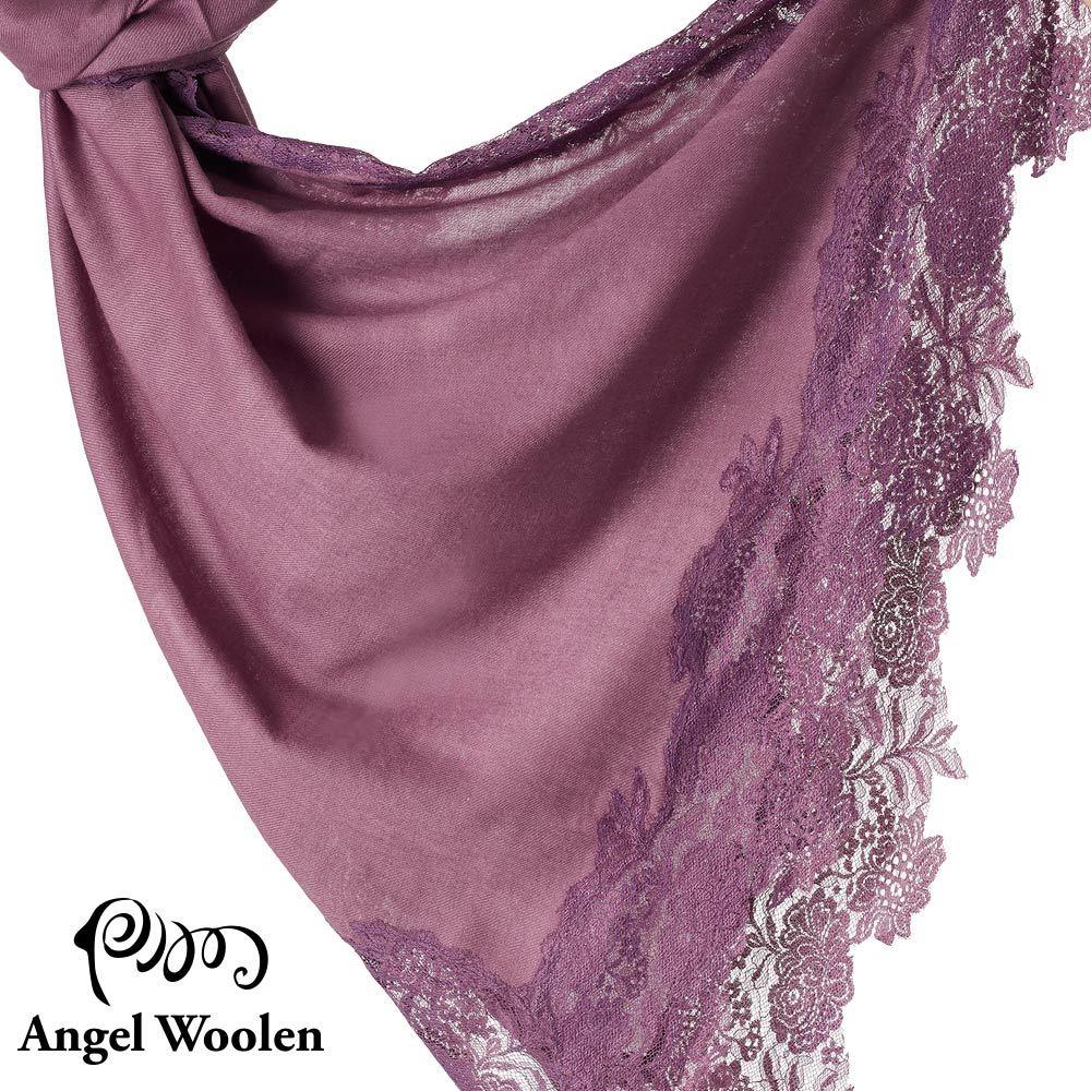 【Angel Woolen】印度手工法國蕾絲披肩圍巾(紫色依戀)僅剩件數4