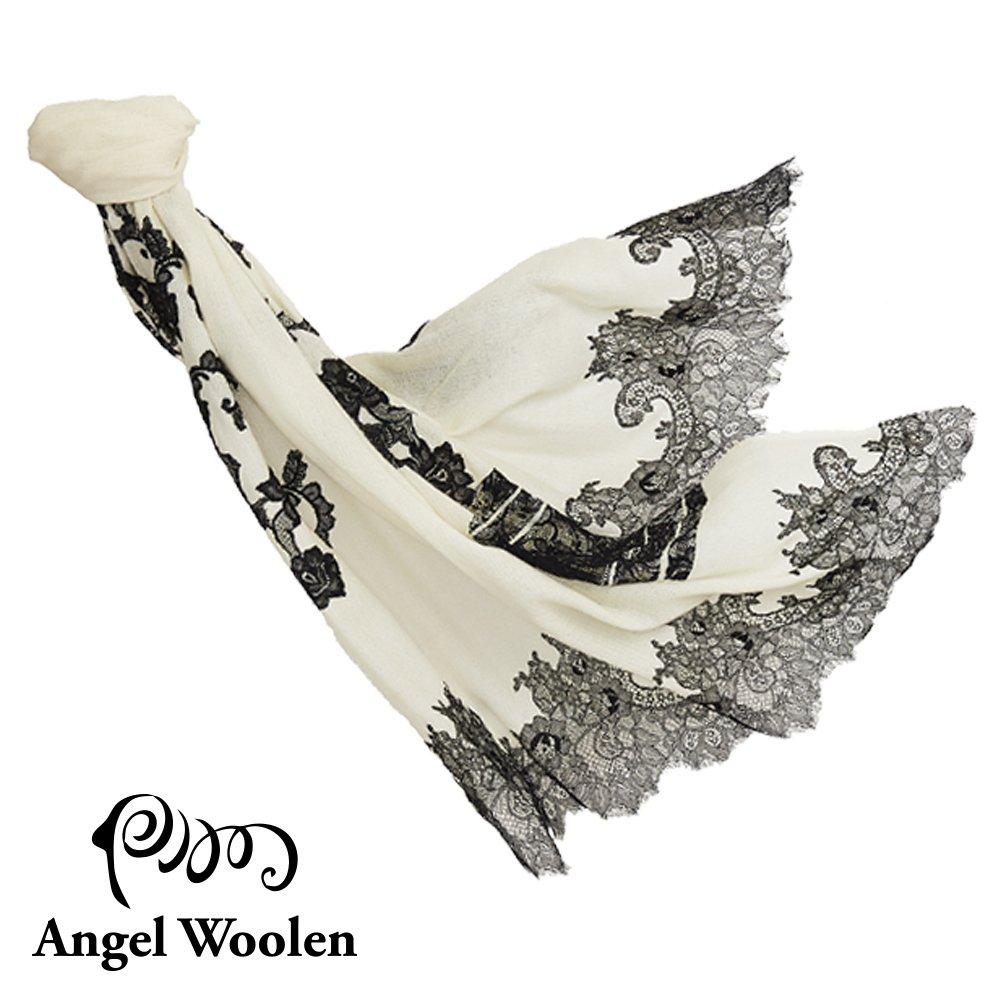 【Angel Woolen】印度手工時間之耀cashmere蕾絲披肩 僅剩1條
