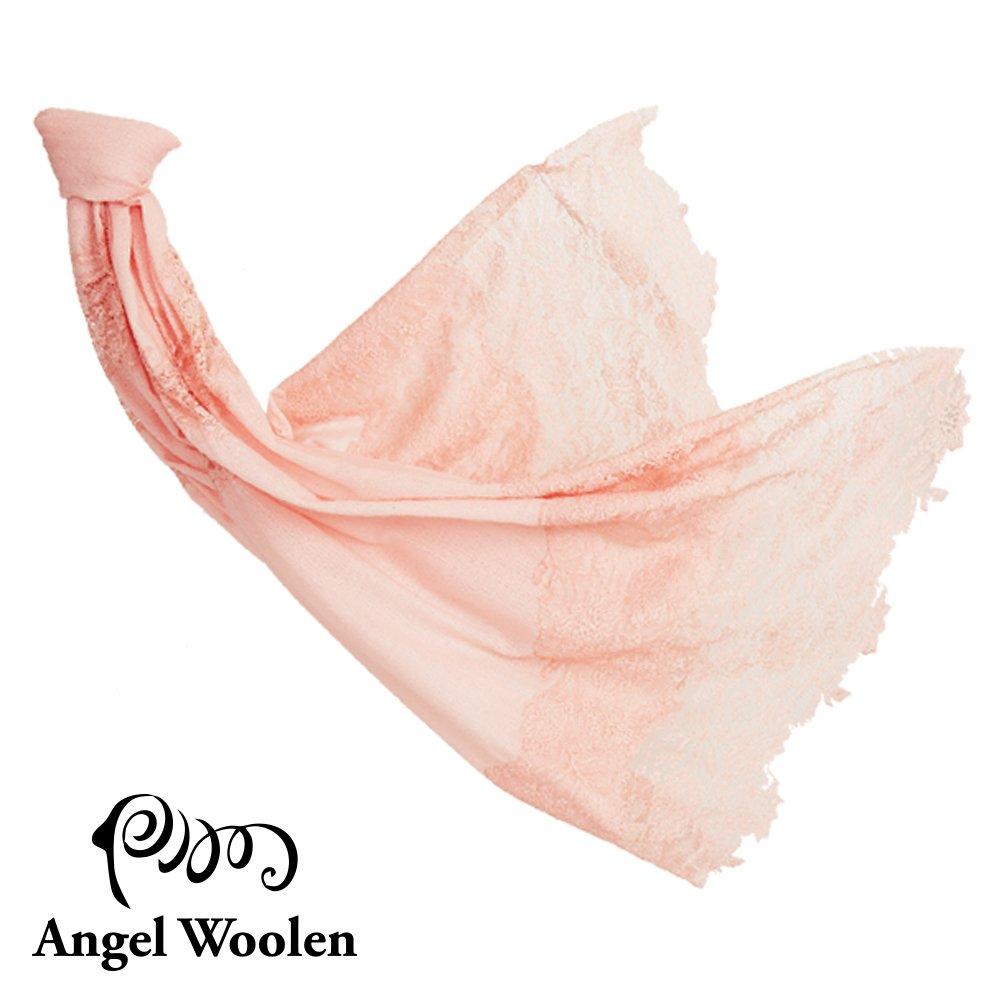 【Angel Woolen】眷戀飛舞蕾絲印度手工蕾絲披肩-粉色