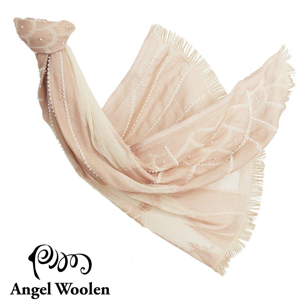 【Angel Woolen】霓裳-印度手工串珠羊毛披肩-裸裳 僅剩4條