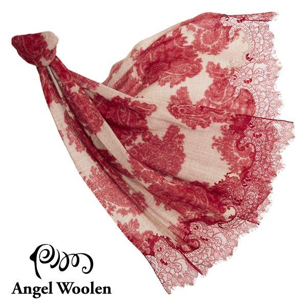 【Angel Woolen】幻麗風采 印度手工蕾絲披肩-幻麗紅