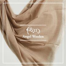 【Angel Woolen】100%Cashmere 頂級純色/原色 羊絨披肩圍巾(金蔥)