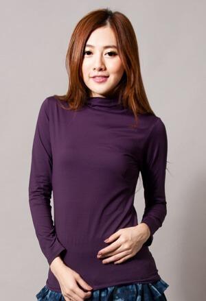 保證100%MIT樂活刷毛立領發熱衣(羅蘭紫 女S-XL)