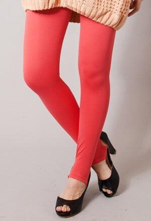 保證100%MIT樂活刷毛踩腳發熱褲(朝陽紅 女S-XL)