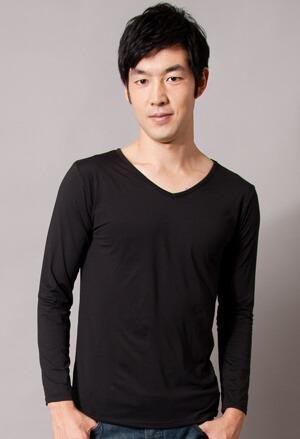 保證100%MIT樂活刷毛V領發熱衣(經典黑 男M-XXL)