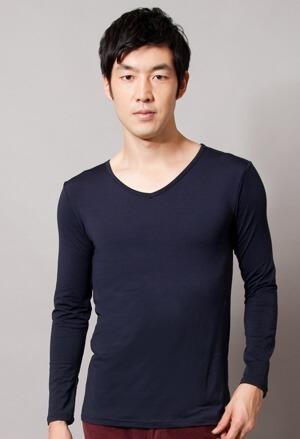 保證100%MIT樂活刷毛V領發熱衣(湛海藍 男M-XXL)