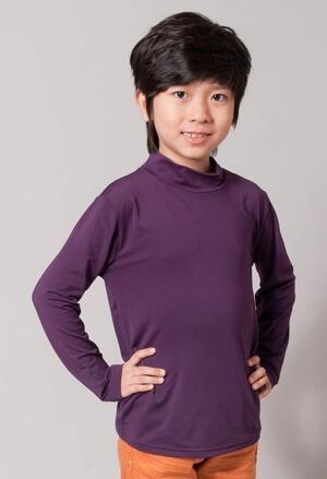保證100%MIT樂活刷毛立領發熱衣(羅蘭紫 童100-140)