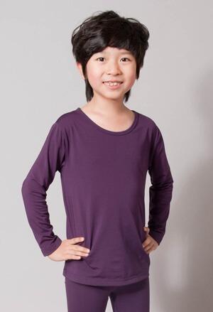 保證100%MIT樂活刷毛圓領發熱衣(羅蘭紫 童100-140)