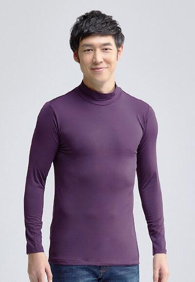 MIT溫灸刷毛立領發熱衣(羅蘭紫 男S-3XL)