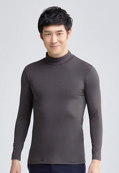 MIT溫灸刷毛立領發熱衣(銀河灰 男S-3XL)