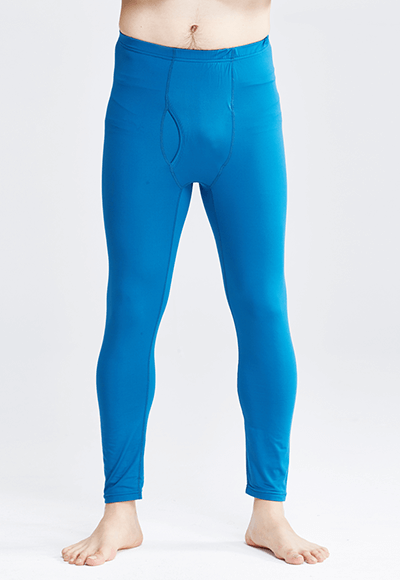 MIT溫灸刷毛內著發熱褲(翡翠藍 男S-3XL)