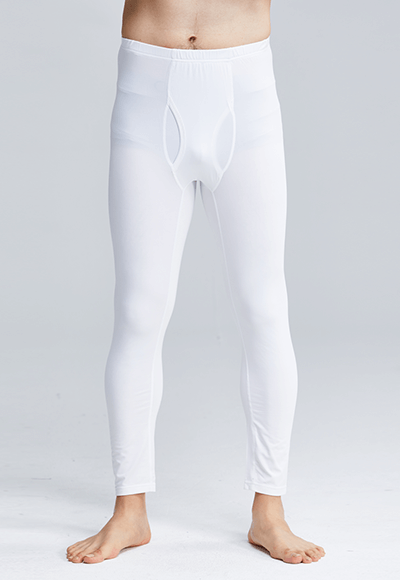 MIT溫灸刷毛內著發熱褲(純淨白 男S-3XL)