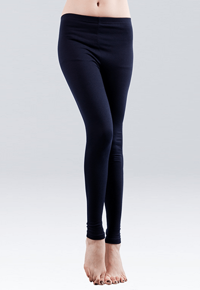MIT溫灸刷毛九分發熱褲(湛海藍 女S-2XL)