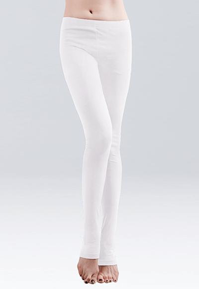 MIT溫灸刷毛踩腳發熱褲(純淨白 女S-2XL)
