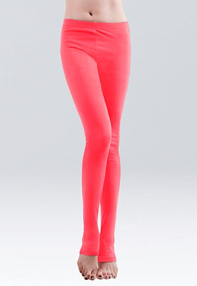 MIT溫灸刷毛踩腳發熱褲(朝陽紅 女S-2XL)