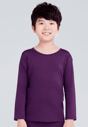MIT溫灸刷毛圓領發熱衣(羅蘭紫 童70-150)