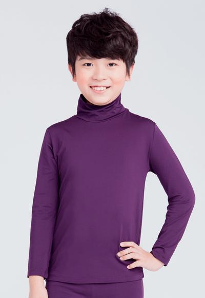 MIT溫灸刷毛高領發熱衣(羅蘭紫 童 70-150)