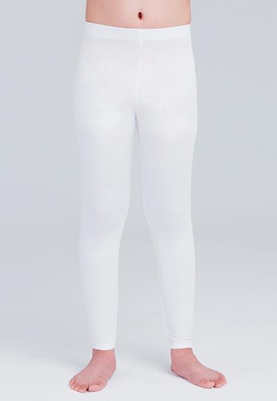 MIT溫灸刷毛九分發熱褲(純淨白 童70-150)