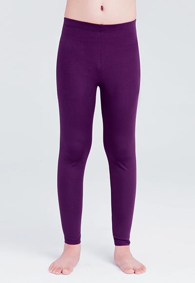 MIT溫灸刷毛九分發熱褲(羅蘭紫 童70-150)
