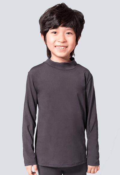 MIT溫灸刷毛立領發熱衣(銀河灰 童70-150)