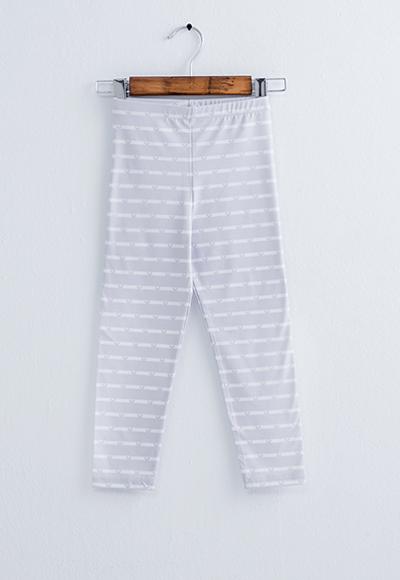 米奇條溫灸刷毛九分發熱褲(灰白色 童70-150)