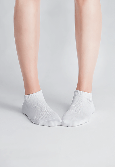 MIT發熱抑菌按摩船型襪(純淨白 女M-L)