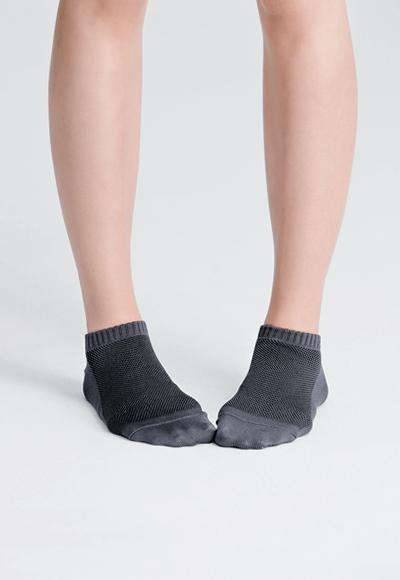 MIT發熱抑菌按摩船型襪(銀河灰 女M-L)