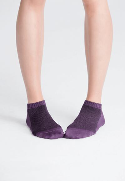 MIT發熱抑菌按摩船型襪(羅蘭紫 女M-L)