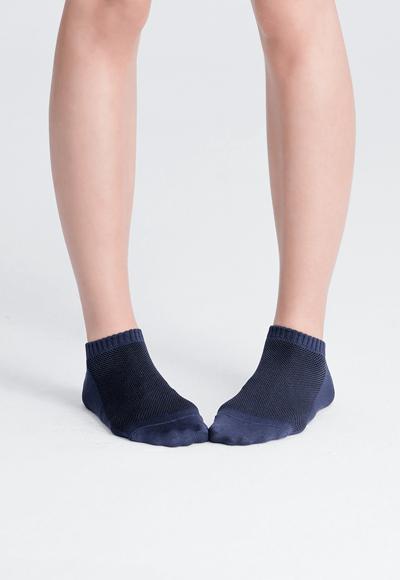 MIT發熱抑菌按摩船型襪(湛海藍 女M-L)