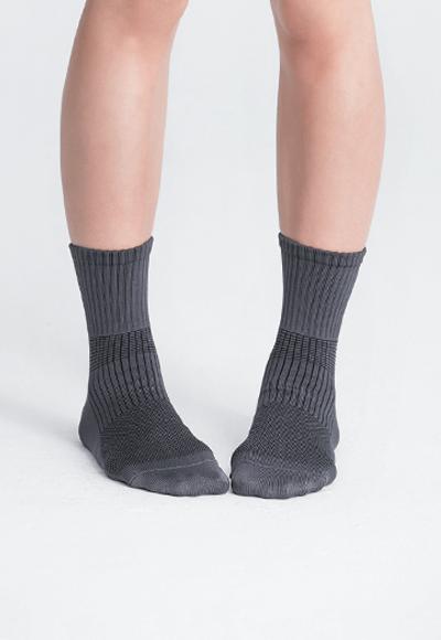 MIT發熱抑菌按摩中筒襪(銀河灰 女M-L)