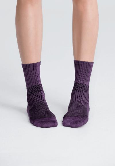 MIT發熱抑菌按摩中筒襪(羅蘭紫 女M-L)
