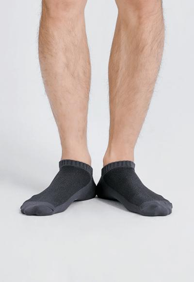 MIT發熱抑菌按摩船型襪(銀河灰 男M-L)
