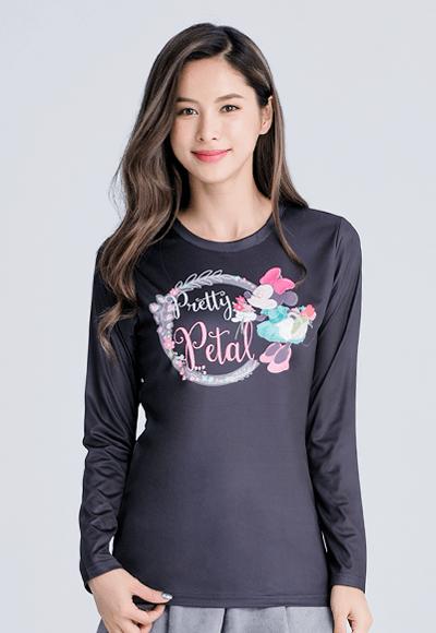 Pretty米妮漾彩圓領輕暖衣(經典黑 女S-2XL)