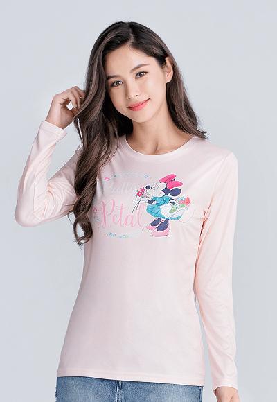 Pretty米妮漾彩圓領輕暖衣(橘粉色 女S-2XL)