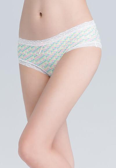 幾合遠紅外線抑菌花邊低腰內褲(活力黃 女M-2XL)