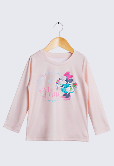 Pretty米妮漾彩圓領輕暖衣(橘粉色 童100-150)