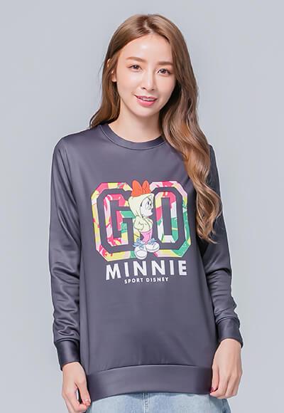 酷炫米妮炙熱刷毛短版發熱衫(經典黑 女S-2XL)